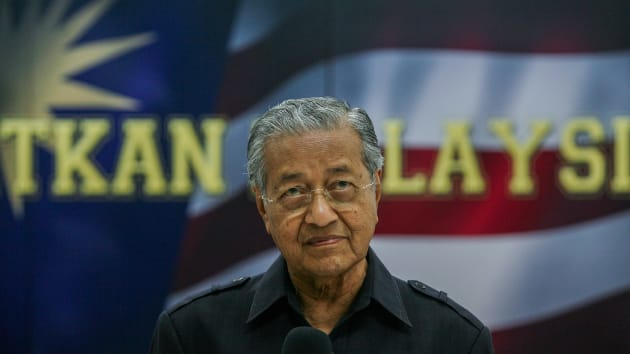 Mahathir Mohamad, 94, is a veteran politician who has been Malaysia's prime minister twice. Mohd Samsul Mohd Said l Getty Images
