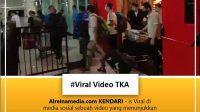 40 WNA China keluar dari ruangan di bandara Kendari