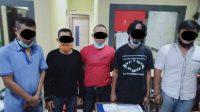 Lagi Asyik Pesta Sabu, 5 Lelaki Dewasa Ditangkap Satnarkoba Polresta Padang