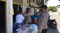 Polsek Serasan, Laksanakan Pengamanan Pasar Ramadhan, Serta Bagikan Masker Gratis Ke Masyarakat
