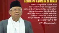 Pesan Wakil Presiden RI untuk Tetap Beribadah di Rumah Selama Ramadan