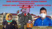 Dugaan Korupsi Dana Refocusing, JPKP Minta BPK Audit Pemko Tanjungpinang
